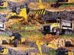 CATERPILLAR CONSTRUCTION - DIGGERS - Fabric - Price Per Metre